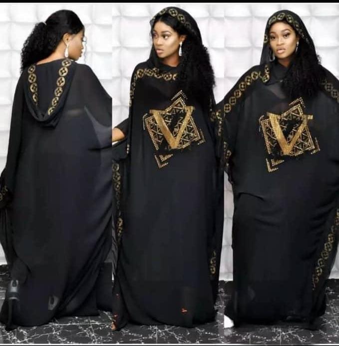 African Design Beading Abaya Chiffon Dashiki Dress Bat Hoodies Cape Muslim Bazin Long Maxi Robe Gowns Africa Dashiki Traditional