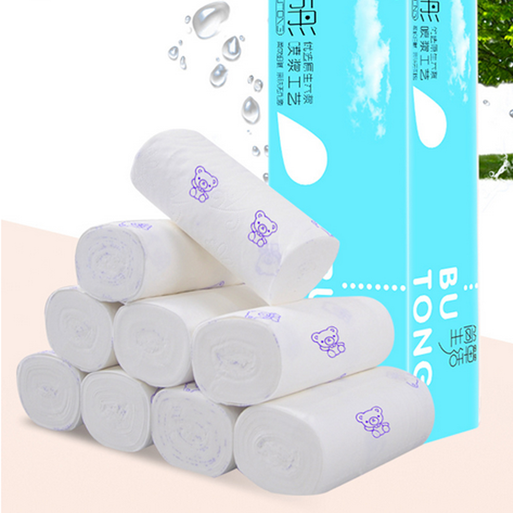 12 Rolls Toilet Paper Portable 4 Layers Disposable Soft Household Paper Towels For Home Bathroom Multifold Coreless Tissue Paper
