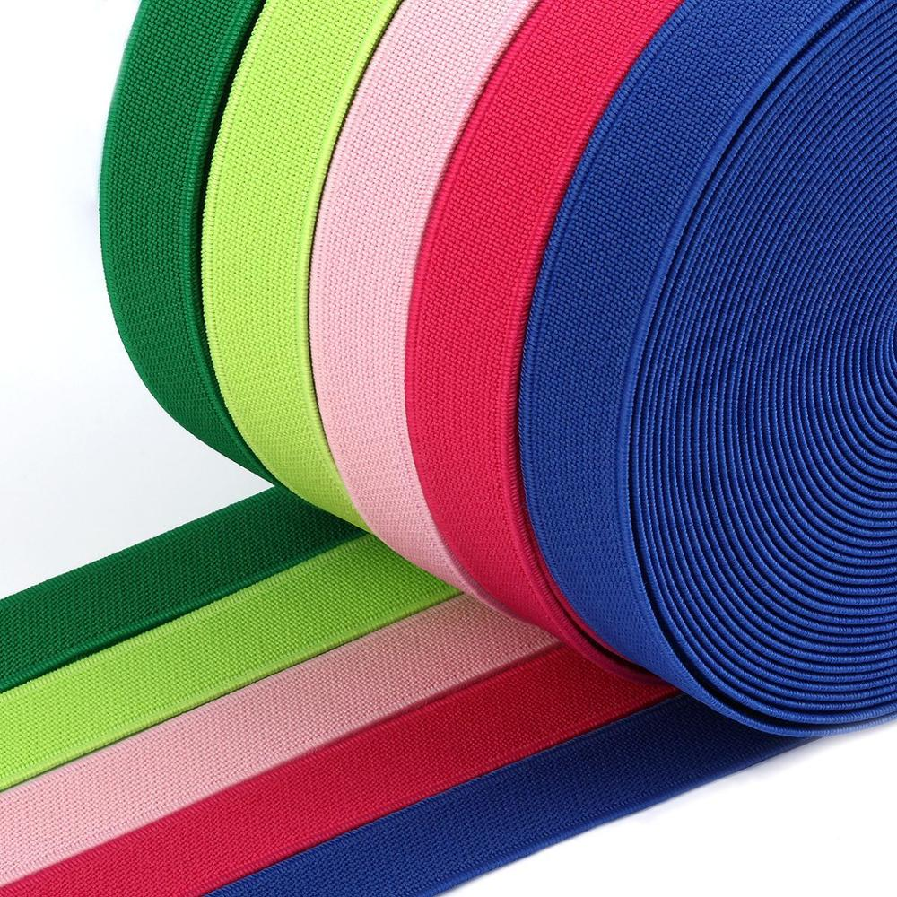 15/20/25mm Elastic Ribbon High-Elastic Elastic Band Rubber Band Elastic Line DIY Lace Trim Sewing Waist Band Garment Accessories