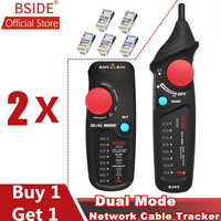 BSIDE FWT82 Dual Mode Network Cable Tracker Wire Tracker RJ45 RJ11 Wire Toner Ethernet LAN Tracer Analyzer Detector Line Finder