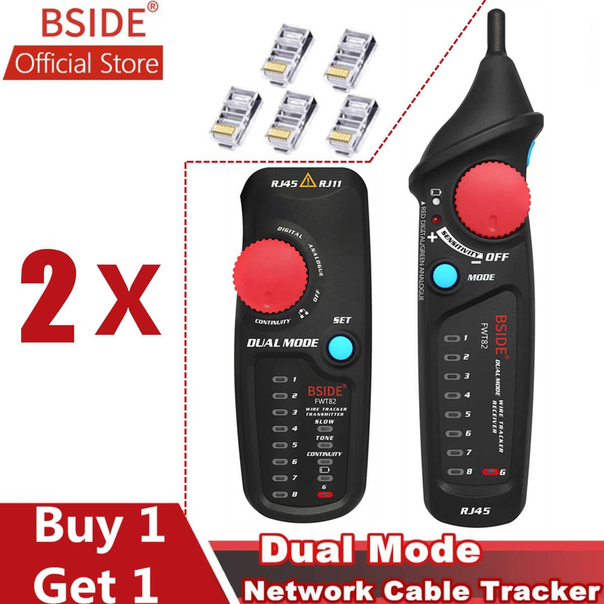 BSIDE FWT82 כפולה מצב כבל רשת Tracker חוט Tracker RJ45 RJ11 חוט טונר Ethernet LAN Tracer מנתח גלאי קו Finder