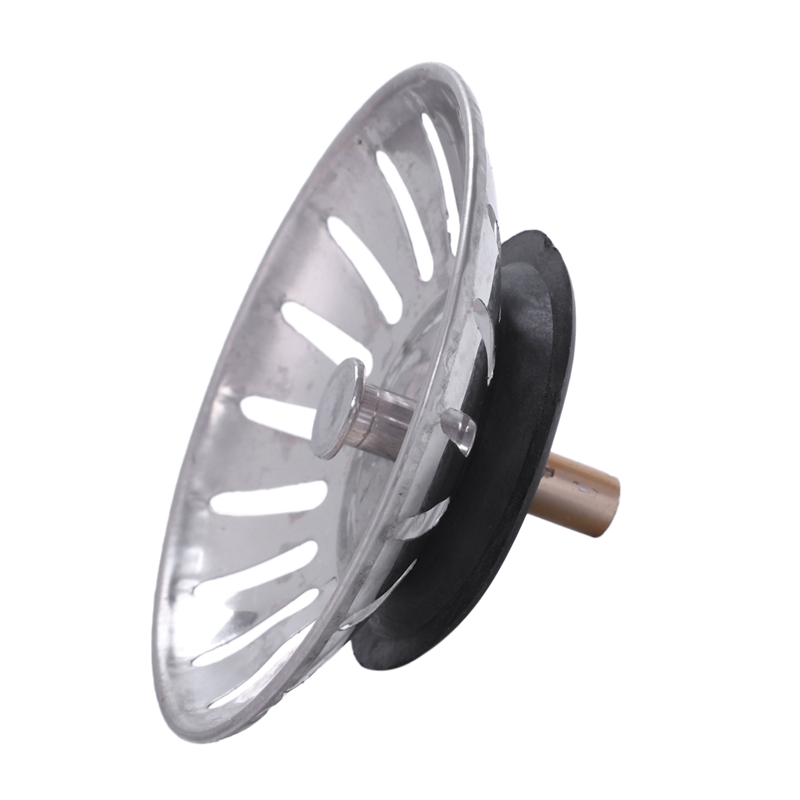 Food Waste Stopper Spin Lock 8cm Dia Sink Drain Drainer Strainer
