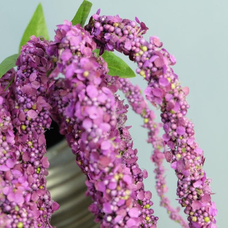 Flone 8 Branch Artificial Lover Fruit Green Amaranthus Artificial Flower Green Plant Wedding Home DIY Decoration Foam Flowers (8)