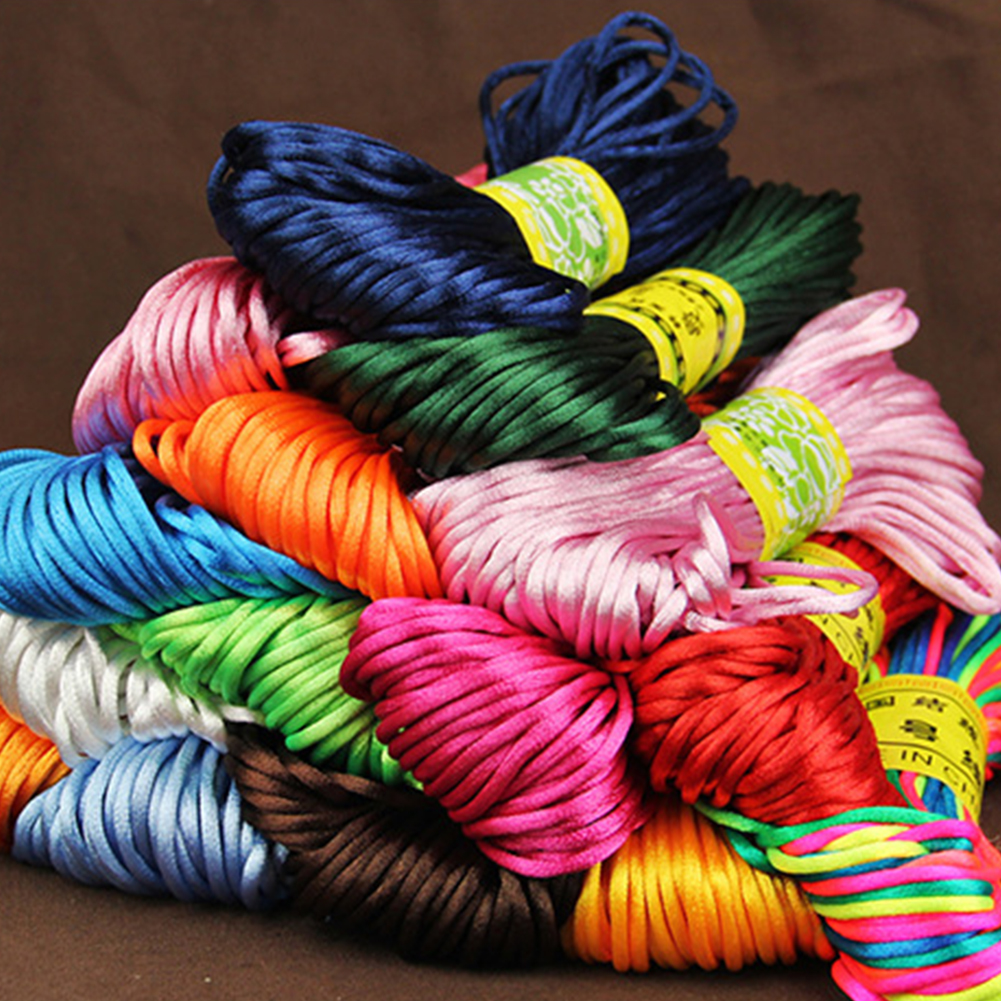 Chinese Knot Cord Nylon Jewelry Bracelet Braided Craft String Wire 1mm//1.5mm A3