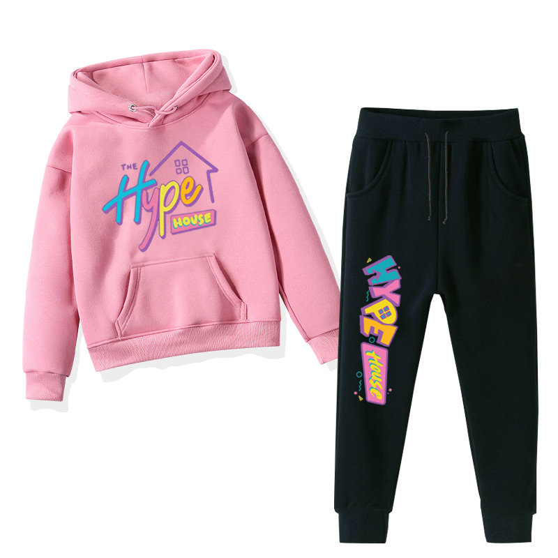 New The Hype House Children Boys Clothing Set Spring Baby Girl Hoodies Tops+pants 2pcs Sport Suit Kids Tracksuit Toddler Costume