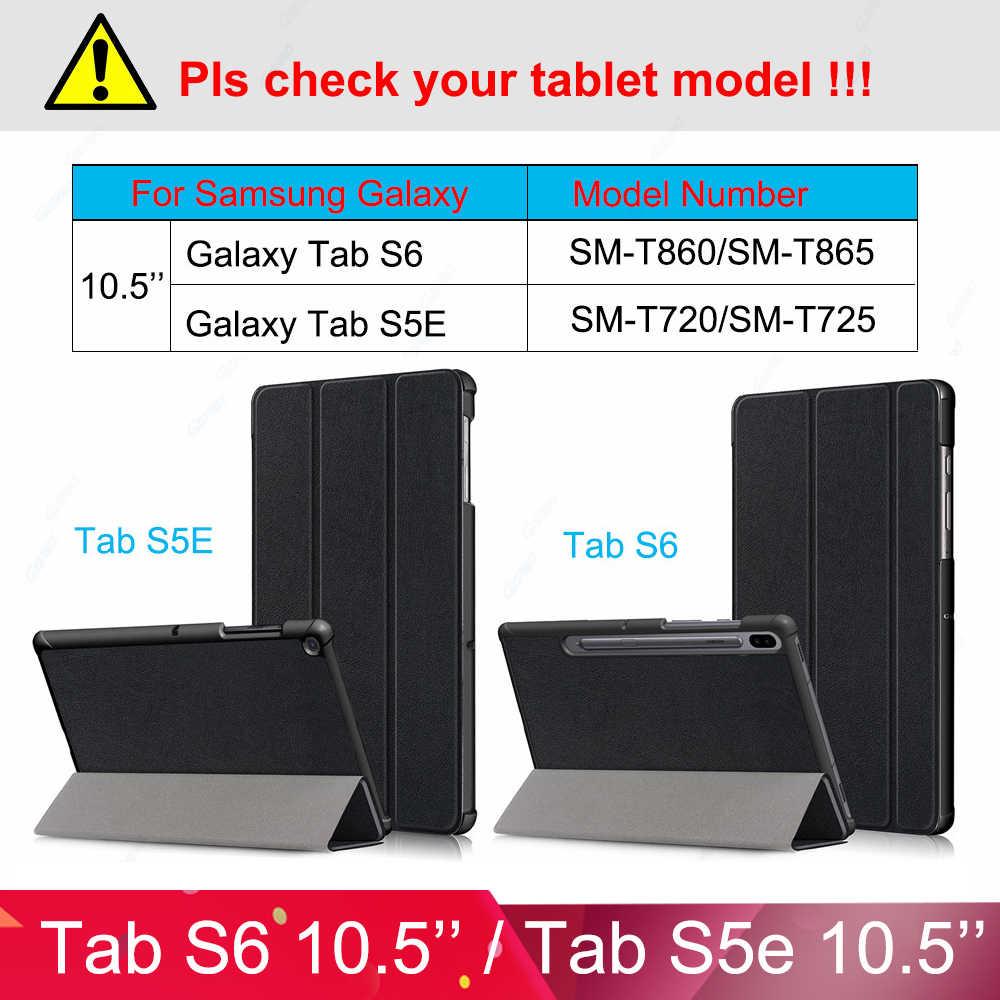 Dành Cho Samsung Galaxy Samsung Galaxy Tab S6 Ốp Lưng Galaxy Tab S5E 10.5 2019 Máy Tính Bảng Funda Smart Cover Cho Galaxy Tab S6 S5E ốp Lưng T720 T725 T860 T865