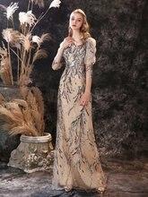 Шикарное вечернее женское платье новое поступление блестками