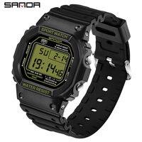 Sanda G Stijl Sport Horloge Mannen En Vrouwen Paar Waterdichte Militaire Horloge Trillingen Mode Analoge Quartz Elektronische Horloge
