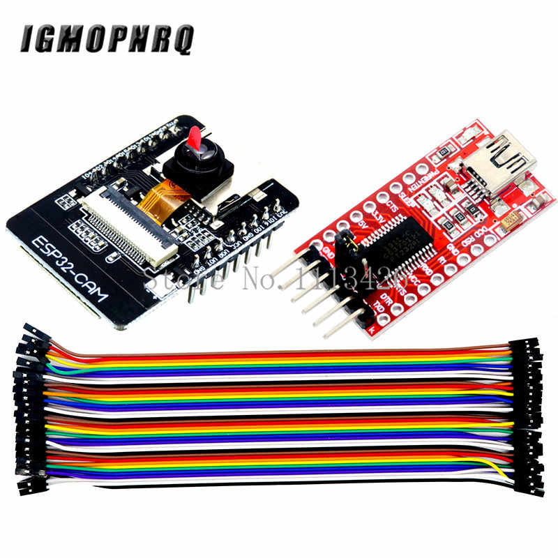 ESP32-CAM Wifi OV2640 Camera Module Bluetooth ESP32 Development Board FT232RL Usb Naar Ttl Seriële Converter 40Pin Jumper Draad