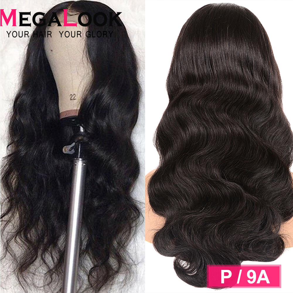 Body Wave Wig Glueless Human Hair Wigs Transparent Hd 30 Inch Lace Front Human Hair Wigs Megalook Hair Remy 13X4 Peruvian Wig