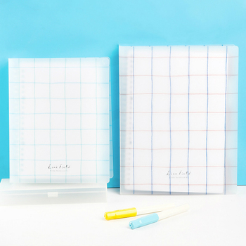 1pc KOKUYO WSG-RULP Line Field Series Smart Ring Binder Notebook Loose Leaf Note A5 B5 Detachable Coil Replaced Inner Page Paper