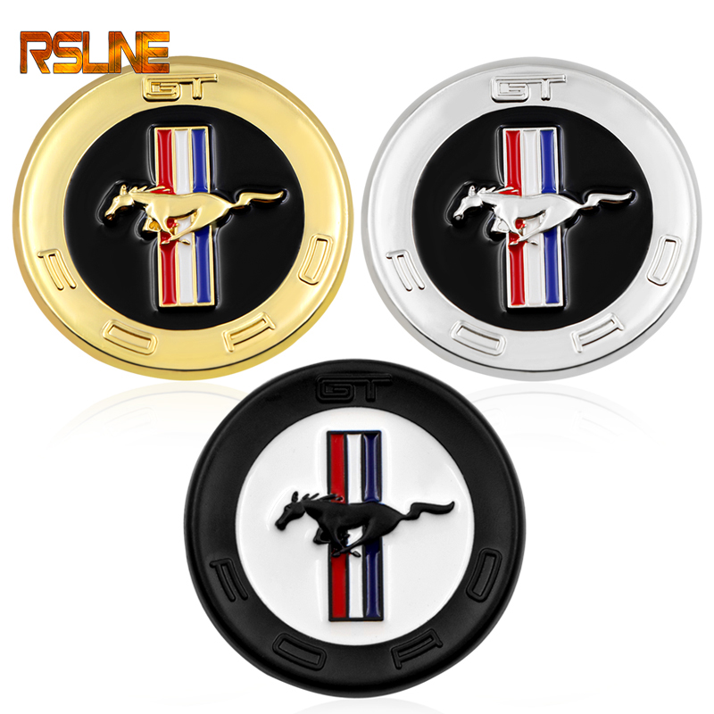 1 PCS 3D Metal Chrome Car Styling Running Horse Emblem Badge For Ford Mustang Shelby GT Rear Trunk Decor Sticker Accessories