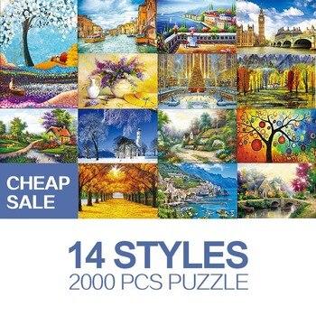 Cheap sale Adult puzzle 2000 piece creative landscape adult decompression children educational toy