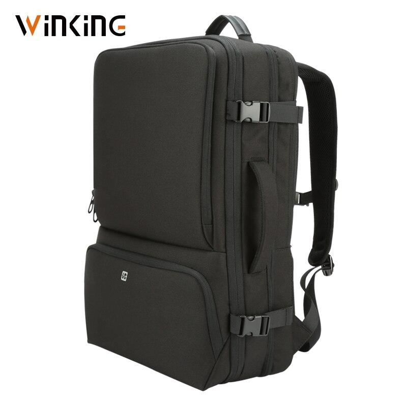 Winking Men Portable Backpack Multifunctional/Waterproof/180 Degree Open Suitcase Large Capacity Laptop Backpack 17-17.3 Inch