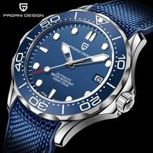 PAGANI DESIGN – montre-bracelet automatique et mécanique pour homme, en acier inoxydable, verre saphir, avec Date, 2020, NH35A