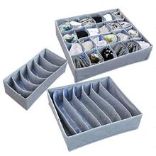 3 sztuk zestaw składane szuflady organizatorzy schowek Case dla biustonosz krawaty bielizna skarpetki szalik szuflady organizatorzy szary tanie tanio faroot Akrylowe