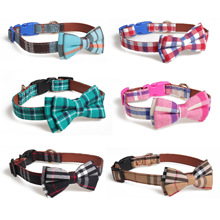 Leash-Set Bowtie-Buckle-Collar Puppies Dogs Cute Adjustable for Pet Cats