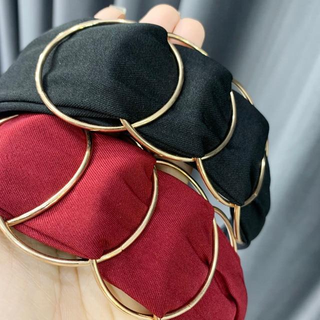 Chen Yan Fashion Print Headbands New Girl Headband Knot Cross Hairband FG 8