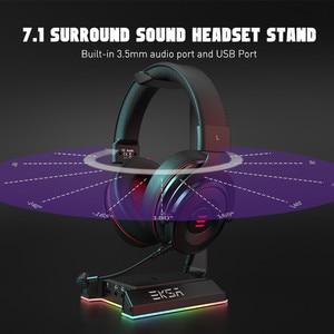 Image 2 - EKSA W1 7.1ชุดหูฟังสำหรับเล่นเกมพร้อม USB/3.5มม.RGB หูฟังสำหรับ Gamer Gaming PC อุปกรณ์เสริมโต๊ะ