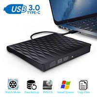 Lecteur de CD DVD externe USB 3.0 lecteur de CD/DVD/graveur/graveur USB lecteurs optiques pour ordinateur Portable Windows Mac OS