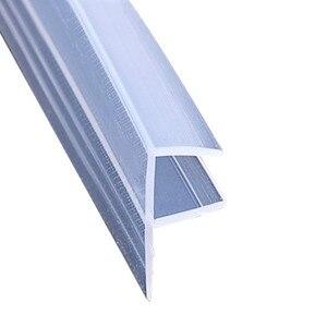 Image 2 - Расширенная F/h форма из силиконовой резины для душа для дверей и окон в комнате, уплотнительная лента для стекла 6/8/10/12 мм, 2 м/лот