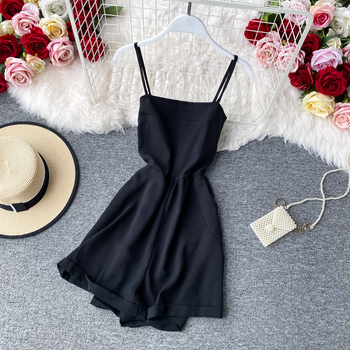 Off-the-shoulder age-reduction sexy suspenders high waist was thin jumpsuit fashion retro solid color sexy street jumpsuit grey casual velvet off shoulder drawstring waist jumpsuit