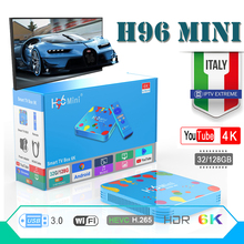 smart tv box android box 9.0 h96 mini media Player Quad Core H.265 Wifi HD Youtube 4K Set top box Android iptv boxes HDMI 2.0 цена