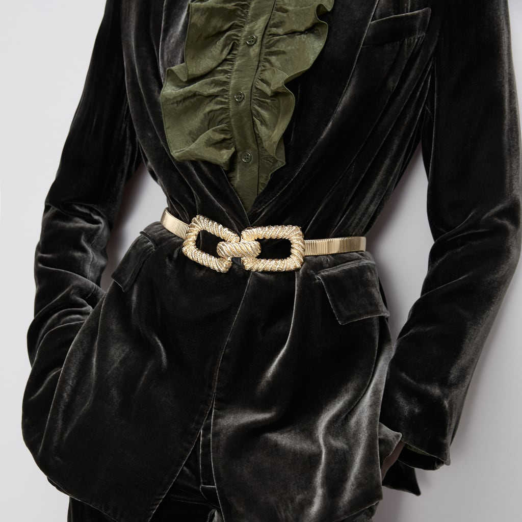 2020 yeni ZA kemer Vintage geometrik Metal kemer zarif kadife deri kemerler zincir kadın elbise aksesuarları takı toptan