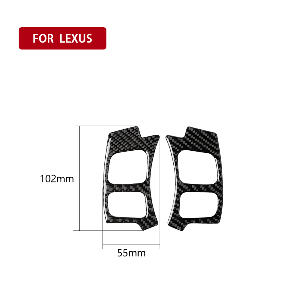 Купить с кэшбэком Carbon Fiber Interior Decoration Steering Wheel Button Frame Trim Cover Stickers For LEXUSNX 300H 200T Car Decal Accessories