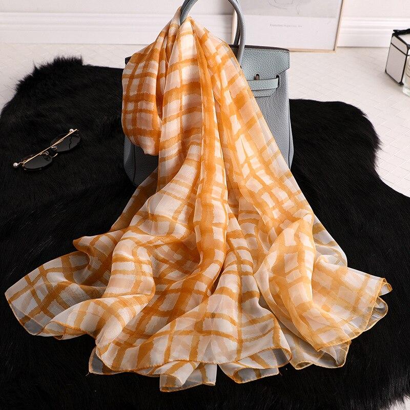 2020 Summer Scarf For Women Fashion Print Silk Scarves Lady Pashmina Shawls And Wraps Designer Brand Hijabs Foulard Female