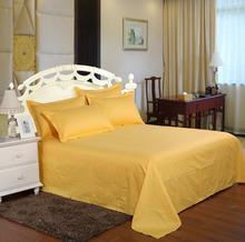 1.2/1.5 /1.8m Flat Bed Sheet Bedspread Pure Cotton Hotel Bedsheet Golden Stripe Bedding Bed cover Home textile Drap de Lit