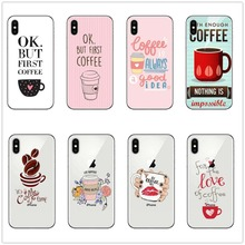 OK But First Coffee Soft Silicone TPU phone Cace Cover For apple IPhone X XR XS MAX 6 6s 7 8 PLUS 5 5s SE COFFEE TIME case coque