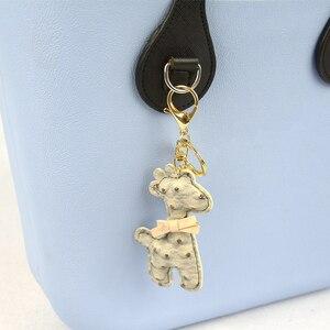 Image 4 - Tanqu Asas largas y cortas para bolso O con borde pintado, hebilla en D, manijas de piel sintética con punta en forma de lágrima redonda, para OBag, piezas para bolsos de cinturón
