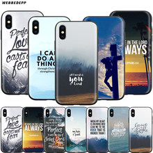 Webbedepp Ayat Alkitab Filipi Yesus Kristus Christian Case untuk Apple Iphone 11 Pro XS Max XR X 8 7 6 6S PLUS 5 5S SE(China)