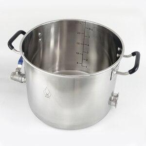 Image 3 - 25L Pentola, Caldaia, Carro Armato, Fermentatore con Coperchio Campana di Distillazione, Rettifica, Sanitari Acciaio Inox 304