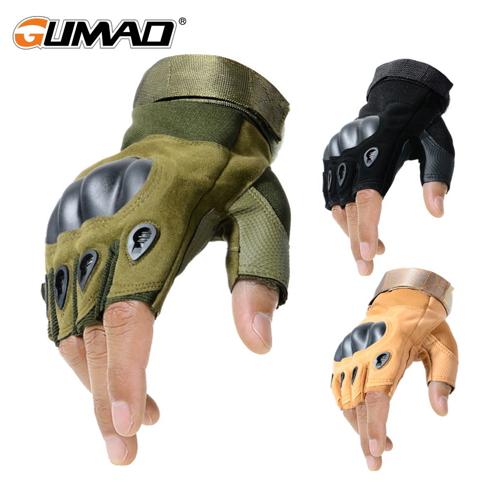 Outdoor Sports Tactical Fingerless Gloves Airsoft Military Army Shooting Biking Hiking Hunting Climbing Cycling Half Finger Men
