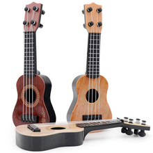 Kids Learning Toys 4 Strings Classical Ukulele Guitar Educational Lively Musical Instrument Toy For Kids Birthday Christmas Gift