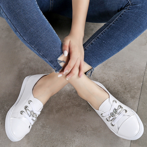 Image 5 - TKN sonbahar beyaz ayakkabı kadınlar düz deri ayakkabı kadın Lace Up bayanlar konfor beyaz spor salonu ayakkabısı rahat kadın spor ayakkabı kadın