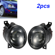 цена на 2pcs Car Left / Right Projector Fog Driving Light Lamp Black shell For Golf MK5 2006-2010 Front bumper Fog Light
