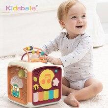 Cubo de actividades para bebés, juguetes 7 en 1 para niños pequeños, juguete educativo, clasificador de formas, Musical, cuentas, laberinto, Discovery, juguetes para aprendizaje