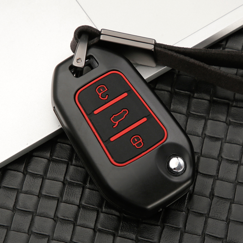 Zinc alloy+Silicone Car <font><b>Key</b></font> Remote Case <font><b>Cover</b></font> for <font><b>Peugeot</b></font> 3008 <font><b>5008</b></font> 208 301 307 308 408 508 2008 4008 Protector <font><b>Key</b></font> <font><b>Cover</b></font> Holder image