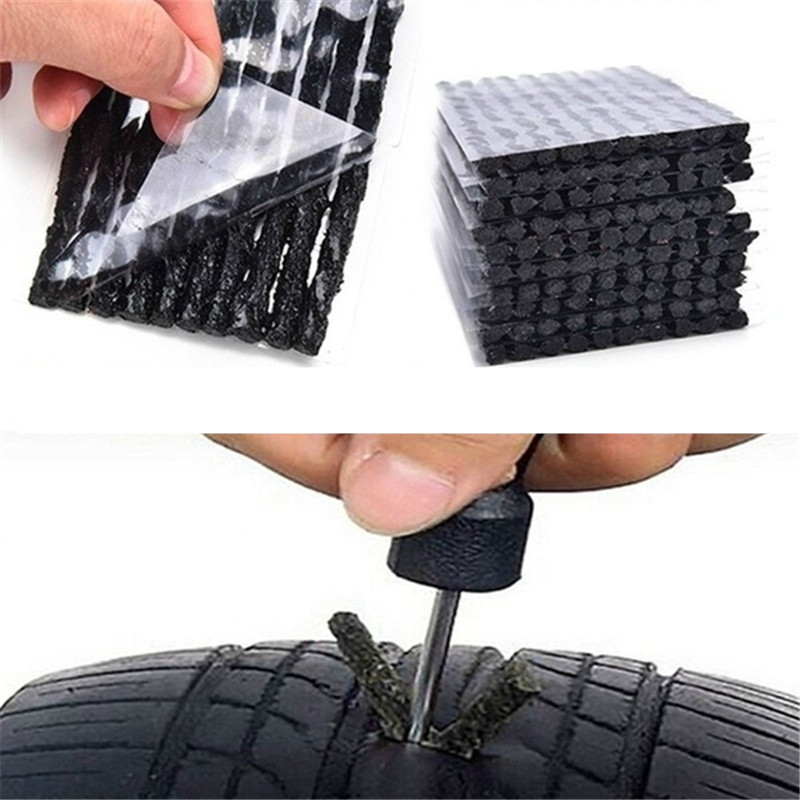 20Pcs Tubeless Tire Tyre Puncture Repair Kit Strips Plug Car Cycling Bike