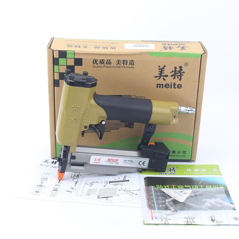 Tools : meite MP630 23GA 1 3 16inch Pneumatic Micro Pinner Gun For 12-30mm Diameter 0 63mm Headless Pins  Gun Low Noise Stapler