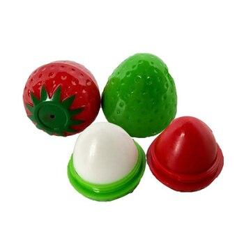 HOT Cute Strawberry Moisturizer Makeup Lip Balm Cosmetic Lip Color Lipstick Remove Lip Lines Lip Gloss Lip Care Wholesale TSLM1