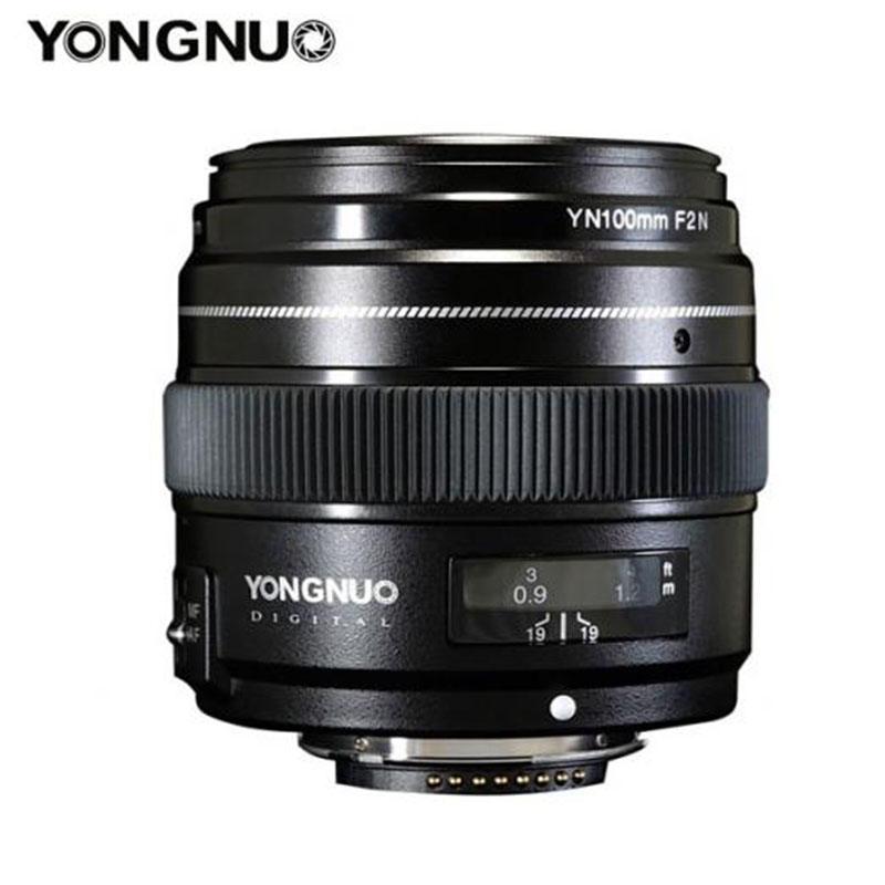 <font><b>YONGNUO</b></font> YN100mm F2 Medium Telephoto Prime Lens with AF MF 100mm Fixed Focal Aperture F/2~F/22 for Canon EOS Rebel <font><b>nikon</b></font> Cameras image