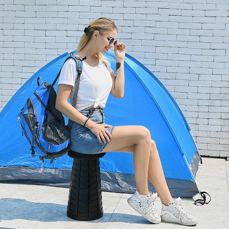 Retractable Stool Folding Chiar Outdoor Portable Stool Folding Chair Camping Stool Convenient Fishing Chair Foldable