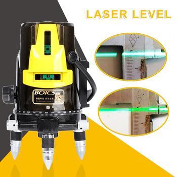 5 Lines 3D Laser Level Green Light Auto Line Laser Vertical Horizontal Self-leveling Cross Powerful Laser Beam Line Projecter