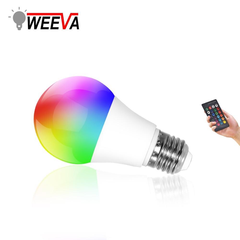 LED RGB Bulb Lamp E27 RGBW RGBWW Spotlight IR Remote Dimmable 5W 10W 15W Colourful Night Light 110V 220V Party Holiday Christmas