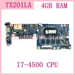 TX201LA MB. _ 4G/I7 4500CPU/AS TX201LA płyta główna ASUS TX201 TX201L TX201LA laptop płyta główna 100% testowanie pomyślne w Płyty główne do laptopów od Komputer i biuro na