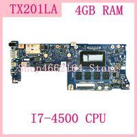 Tx201la mb. _ 4g/I7-4500CPU/como tx201la mainboard para asus tx201 tx201l tx201la portátil placa-mãe 100% testado ok